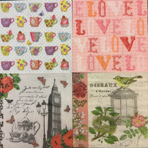 Lote Servilletas Decoupage X 20 Unidades Últimas Disponibles