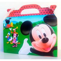 Cajita Golosinera La Casa De Mickey Mouse Pack X10 Valijitas