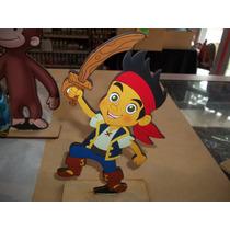 Estampaditos Jake El Pirata Para Centro De Mesa De 16 Cm