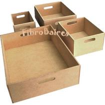 Cajón Multiuso Fibrofacil N°4 - Organizador - Cds - Libros -