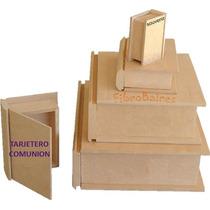 Caja Libro En Fibrofacil - Tarjetero Comunión - Souvenirs