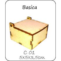 Caja Souvenir De Fibrofacil De 5x5x3,5cm