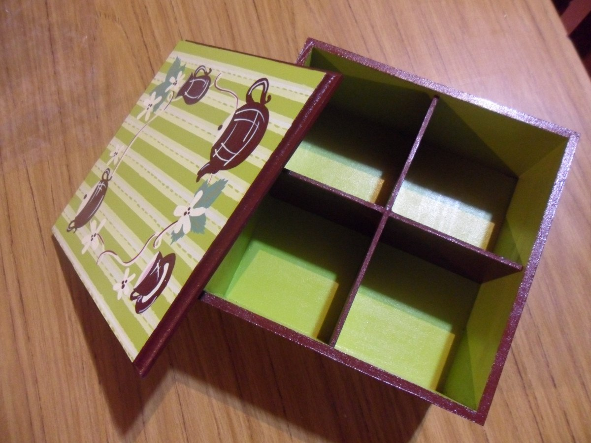 Cajas de fibrofacil decoradas mercadolibre argentina for Cajas pintadas a mano