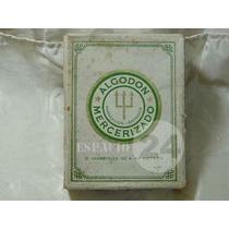 Antigua Caja De Carton Algodon Mercerizado Fabr.britanica