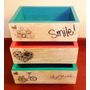 Cajas De Madera Vintage Pintadas