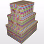 Caja Baulera De Cartón Grande 47 X 37 X 22