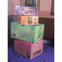 Cajones De Madera Reciclada. Estilo Vintage. Reforzados.