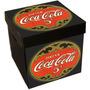 Cajas Decoradas Corrugado Plástico 33x33x34cm Coca Cola