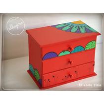 Caja Alhajero, Pintada A Mano, Diseños Únicos!