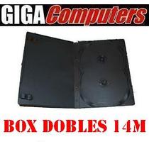 Box Dvd De 14mm Dobles Con Caratula X 10 Unidades Excelentes