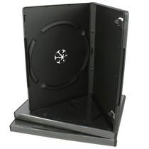 100 Estuches Dvd 14mm Negros Resistentes Y De Calidad