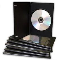 100 Estuches Dvd 7mm Slim Negros Resistentes Y De Calidad