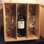 Caja Grabada Para Vino Y Dos Copones Personalizada Regalos
