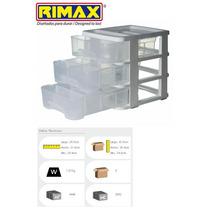 Gavetero Organizador Caja De Plastico Triple!!
