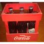 Cajón Coca Cola + 6 Botellas Llenas Edicion Historica Rojo
