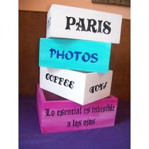 Cajas, Cajones De Madera Vintage, Organizadores.
