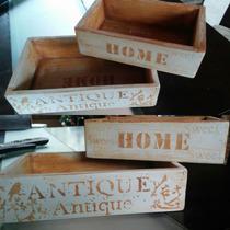 Cajas Madera Vintage Reciclada