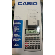 Calculadora Casio Con Rollo 12 Digitos Ideal Oficina Hr-8tm