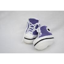Escarpines Estilo Converse (crochet)