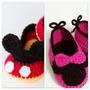 Escarpines De Mickey Y Minnie Para Recién Nacido Y Bebes!!!!