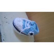 Escarpines Recién Nacido Tipo Zapatillas A Crochet