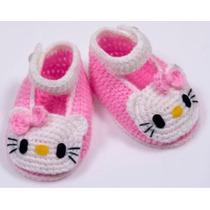 Escarpines Para Recién Nacido Y Besbes A Crochet