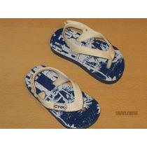 Imperdibles Sandalias Cheeky Talle 18 Nuevas Azul Y Blancas