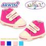 Zapatillas Arwin De Corderoy Doble Velcro Para Bebe S/m/l