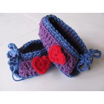 Zapatitos De Algodón Tejidos En Crochet Para Bebés