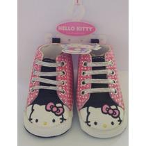 Wow! Zapatillas Botitas Hello Kitty 3-6 Meses No Caminantes