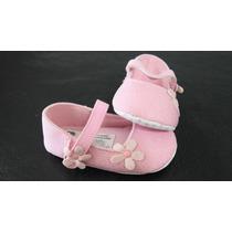 Zapatillas Importadas Bebé Rosa Brillitos Flor