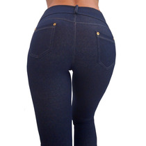 Tqc Leggings Calza Mujer Simil Jean Con Bolsillos