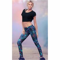 Calzas Microfibra Estampada Varios Modelos Fashion Moda