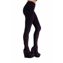 Calzas Leggings De Gamuza Negra Temporada Otoño / Invierno
