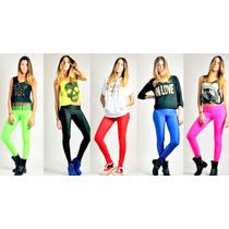 Calzas Leggins- 100% Lycra Promotoras Super Sexys Brillantes
