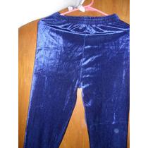 Calza Aterciopelada Color Azul
