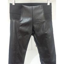 Leggings Cuerina Elastizada Cintura Elastica Sexy