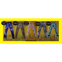 Calzas Leggins Peter Pan Animal Print Dolar Flores Estampado