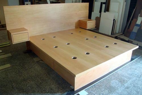 Cama de madera 2 plazas imagui for Como hacer un sillon con una cama