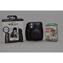 Camara Fuji Instax Mini 8 + 20 Fotos Sin Cargo Black