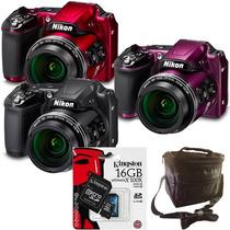 Nikon L840 Zoom 38x Wifi Full Hd + Sd 16gb Clase 10 + Bolso!