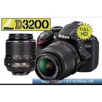 Nikon D3200 Camera - Negra (kit 18-55mm) - Garantia 12 Meses
