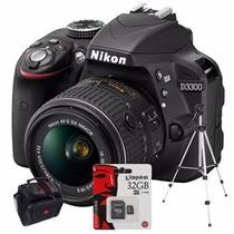 Nikon D3300 Kit 18-55mm Vr+ Sd 32gb C10+ Bolso+ Trípode!!!!!