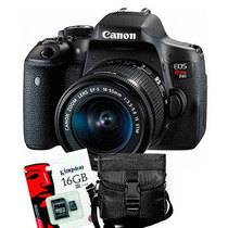 Canon Eos T6i 18 55 750d Wifi Full Hd + Sd16gb + Bolso Gtia!