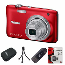 Nikon S2900 Reemp. S2800 32gb C10+ Lector+ Funda+ Trípode!!!