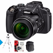 Nikon P610 16mp 60x Wifi Gps Full Hd+ 16gb C10+ Bolso+ Tripo