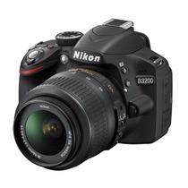 Nikon Reflex D3200 Kit 18-55mm Memoria Clase 10 De Regalo