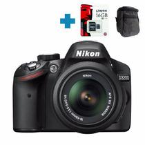 Nikon D3200 Full Hd 24mp Kit 18-55 Vr + 16gb Y Bolso Alclick