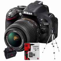 Nikon D5200 Kit 18-55mm+ Sd 32gb C10+ Bolso+ Trípode!!!!!!!!