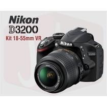 Nikon D3200 Kit 18-55 Vr 24 Mpx Full Hd + Sd 16gb Gtia Mdq